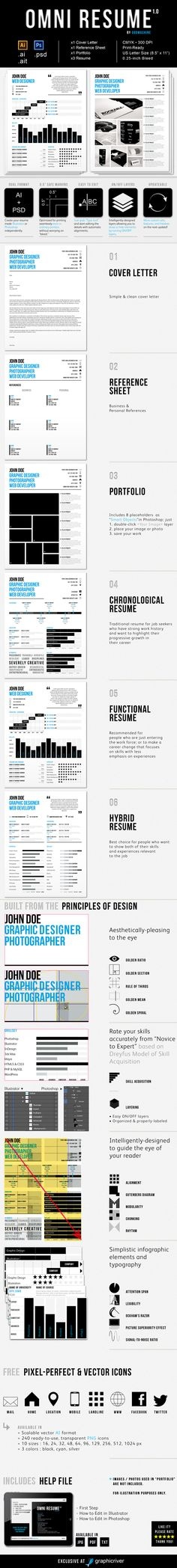 4 Piece Resume Set With Three (3) Different Resumes To Choose From (  Is Cv The Same As Resume