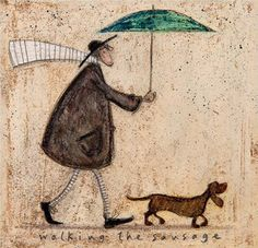 Walking The Sausage by Sam Toft - art print from King