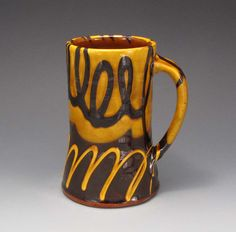 Beer Stein Tankard Tall Mug Terracotta Handmade Ceramics Ron Philbeck Pottery