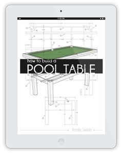How to build a pool or billiards table - Plans to build your own pool table Small Pool Table, Diy Pool Table, Pool Table Games, Custom Pool Tables, Pool Table Room, Make A Table, Diy Table, Build Your Own Pool, Homemade Pools