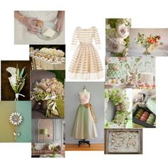 mint.gold.pink wedding yummy, created by carolyn428 on Polyvore