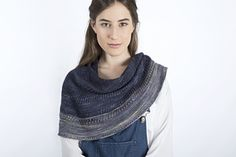 A shawl designed in malabrigo Mechita yarn, based on a simple lace technique, that generate a enjoyable to knit rhythm sequence. This shawl is finished with a color change that give a special brightness to the entire design.
