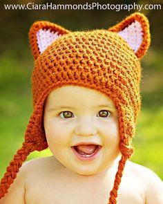341ca573f2a Fox Earflap hat CROCHET PATTERN includes 4 sizes PDF 18.  3.99