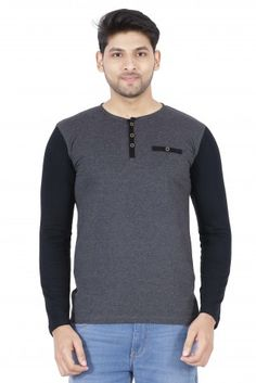 02f3e7de9b7b Buy Freakster men s henley neck full sleeve t-shirt at low prices in India  only