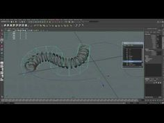 Spiral along a curve in Maya - YouTube