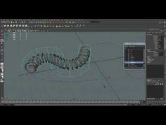 Spiral along a curve in Maya - YouTube