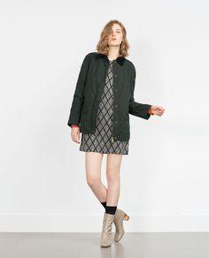 Image 1 of WAXED FABRIC OVERSHIRT from Zara