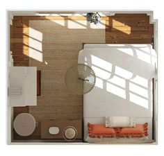 Design Ideas for a tiny bedroom space! Small Apartment Furniture, Bedroom Furniture Design, Small Furniture, Small Space Design, Small Space Living, Small Spaces, Bedroom Layouts, Bedroom Doors, Contemporary Bedroom