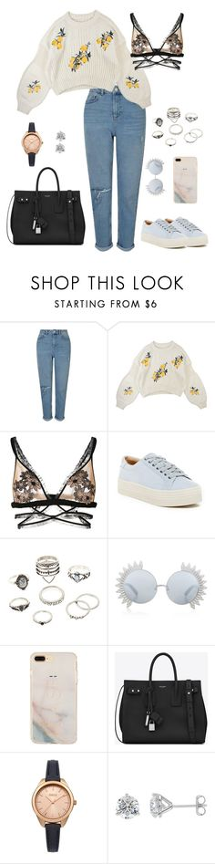 """Sin título #28"" by yelihsa ❤ liked on Polyvore featuring Miss Selfridge, For Love & Lemons, Marc Fisher LTD, Charlotte Russe, Linda Farrow and Yves Saint Laurent"