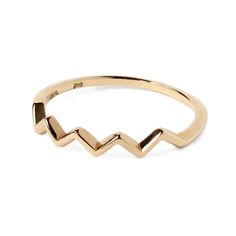 Phalange ring jagged K18 gold 1401-PAR22 e.m. #em #phalangering #midiring #jagged #gold