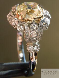 antique style diamond ring
