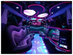 The interior of the limo I would love at our wedding...yes please!!