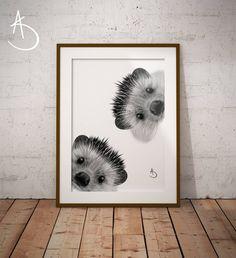 HEDGEHOG NURSERY PRINT, Hedgehog Nursery decor, Hedgehog Nursery Print, Printable Poster, Woodland Animals, Nursery Art, Nursery Decor, Art by AmberstoneDesign on Etsy