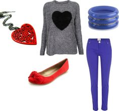 """""""Red and Blue"""" by begirl2799 on Polyvore"""