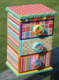 My funky mini dresser that I altered by Michele Littlefield