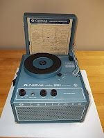 Old record players that played 78s & with the added plastic circles, also played your 45's. Oh how I love my iPod  :)
