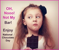 When chocolate takes over it's impossible to share. Enjoy this guilty pleasure on National Chocolate Day. MiracleCord.com #chocolate #pleasure