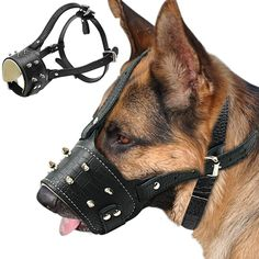 Cool Spiked Studded Pu Leather Dog Muzzle Anti Biting Padded Dogs Traning Muzzle No Bark Pet Mask For Large Dog Pitbull Labrador - Store Emporium Large Dog Breeds, Large Dogs, Labrador, Dog Muzzle, Love Your Pet, Dog Behavior, Dog Accessories, Dog Care, Dog Owners