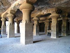 Elephanta Island Cave Temple    Cave Temple at Elephanta Island, off the coast of Mumbai, India