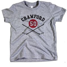 Corey Crawford NHLPA Officially Licensed Chicago Toddler and Youth T-Shirts 2-12 Corey Crawford Sticks K