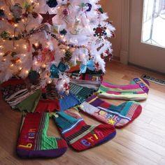 jaw-dropping envy for the one who makes these recycled sweater-turned-christmas stocking
