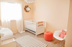 Ideas for Decorating a Peach Bathroom Peach Nursery, Girl Nursery, Nursery Decor, Nursery Ideas, Cream Nursery, Orange Nursery, Newborn Nursery, Nursery Rhymes, Bedroom Ideas