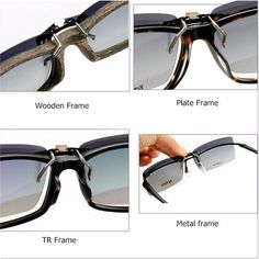 7a6bfa9aa29 Men Polarized Clip On Sunglasses Lens Fishing Night Driving Eyewear Lens is  hot sale at NewChic