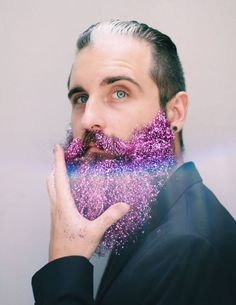 I want this. Glitter Beard Trend