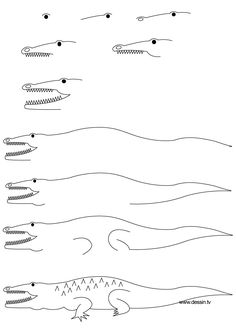 Crocodile pattern use the printable outline for crafts for Easy to draw crocodile