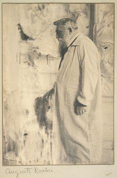Kasebier, Gertrude -   Auguste Rodin