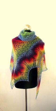 Knitting Club, Lace Knitting, Crotchet Patterns, Stitch Patterns, Knit Or Crochet, Crochet Hooks, Knitting Designs, Knitting Patterns, Wrap Pattern