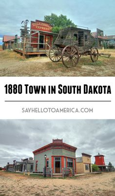 1880 Town is an authentic 1880-1920 era town of buildings and artifacts in Murdo, South Dakota. Click for more photos or pin for later!