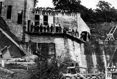 Tour Scotland Photographs: Old Photograph Cotton Mill Stanley Perthshire Scotland