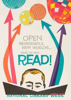 DP Vintage Posters - National Library Week Original Literacy and Reading Poster