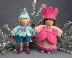 great clothes  jester bendy doll and princess bendy doll, via Flickr.