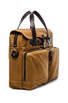 Filson 72 Hr Tin Cloth Briefcase in Tan
