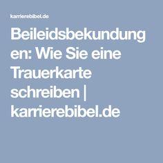 Beileidsbekundungen: Wie Sie eine Trauerkarte schreiben | karrierebibel.de