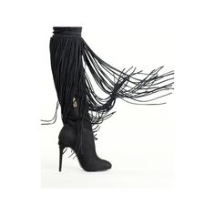 Black Fringe Evelize Boot (1,090 BAM) ❤ liked on Polyvore featuring shoes, boots, black boots, kohl boots, schutz footwear, schutz shoes and schutz boots