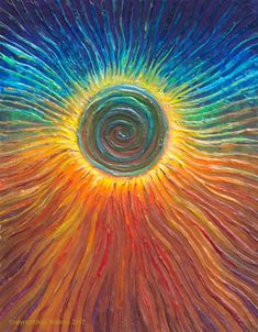 The Energy Art Store By Julia Watkins — Eclipse Energy Painting - Giclee Print Art Painting, Spiritual Art, Sun Painting, Painting Canvases, Spiritual Paintings, Painting, Sun Art, Canvas Art, Energy Art