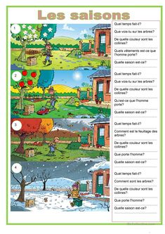 The 4 seasons - English ESL Worksheets for distance learning and physical classrooms English Speaking Skills, Learning English For Kids, English Writing Skills, English Vocabulary, Learning Spanish, French Language Lessons, French Lessons, English Lessons, Learn English