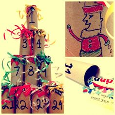 Advent's toilette paper roll Calendar | Recyclart