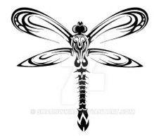 Tribal Dragonfly Design by ShadowKira