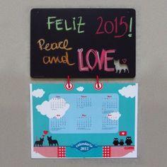 Calendario pizarrón Bulldog francés