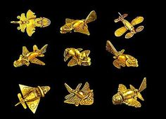 Collection of winged creatures from pre-Columbian era. Notice how, in every case, there are clearly wings, rear stabalizers and rudders. Every example follows the same aerodynamics used by today's airplanes.