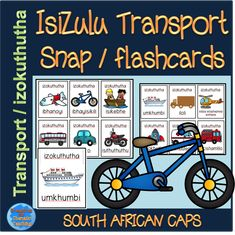 Isizulu transport themed snap cards that can be used as flashcards as well. Create patterns, play games and more with these cards. Grade R Worksheets, Kindergarten Worksheets, Zulu Language, Snap Words, English Writing Skills, Memory Games, Games To Play, Teaching Resources, Literacy