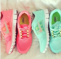 Nike Sneakers. Love the mint ones