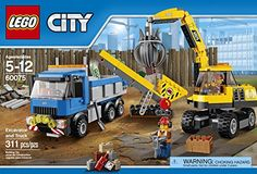 LEGO Metropolitan area Leveling Digger as well as Vehicle - http://bricksandblocks.net/?product=lego-city-demolition-excavator-and-truck