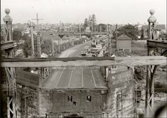 The old Gladesville Bridge and Victoria Road, Drummoyne viewed from the control tower in the late Modern Pictures, Old Pictures, Old Photos, Australian Photography, Sydney City, Old Images, Historical Architecture, Historical Pictures, Sydney Australia