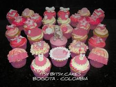 GIRL BABY SHOWER CUPCAKES  Cake by itsybitsycakes