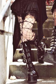 classic modern goth boots